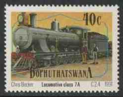 Zuid Afrika South Africa Bophuthatswana 1991 Mi 266 Sc 263 ** Class 6A Locomotive No. 194 (1897) Trucks And Caboose - Treinen