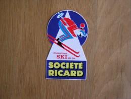 MONSIEUR SKI DE LA SOCIETE RICARD Pastis Publicité    Autocollant Sticker Autres Collections - Pegatinas