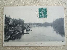 AL6-37 -CHINON - LES QUAIS ET LA VIENNE - Chinon