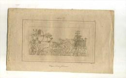 - EGYPTE . ATTAQUE D´UNE FORTERESSE . GRAVURE SUR ACIER 1ere1/2 XIXe S. - Archéologie