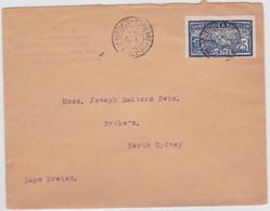 SPM - 1910 - YVERT N°84 SEUL Sur ENVELOPPE Pour NORTH SYDNEY (NOUVELLE ECOSSE) - COTE MAURY = 175 EUROS - St.Pierre & Miquelon