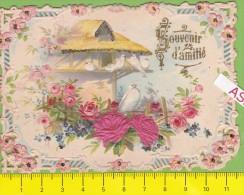 DECOUPI, SOUVENIR D'AMITIE - Fleurs - Colombe - Vers 1900 - 2 Scans - Other