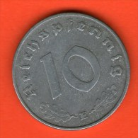 *** 10 Reichspfennig 1945 E ***  KM 101 - 3rd / Tercer Reich - Zinc / Zink - ALEMANIA / DEUTSCHLAND / GERMANY - 10 Reichspfennig