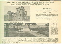 ESPERANTO, CARTOLINA-FOTO PER L'ITALIA DEMOCRATICA,MARTIRI DI BELFIORE, TIMBRO POSTE MANTOVA, VIAGGIATA 1955, - Esperanto