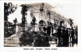 BUENES AIRES - PALERMO - PUENTE JAPONES, Fotokarte Gel.1927 - Argentinien