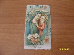 SANTINO / SANTINI -  HOLY CARD -  IMAGE PIEUSE  (MATER BONI CONSILII) - Santini