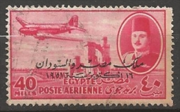 EGYPTE  POSTE AERIENNE N° 51 OBLITERE - Aéreo