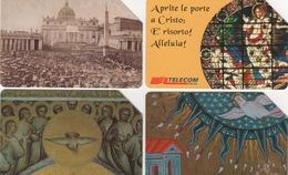 USATE-576/795/902/920- TELECOM ITALIA-SERIE  GIUBILEO 2000-4 SCHEDE - Pubbliche Figurate Ordinarie