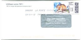 FRANCE 2012 - Ecureuil - Timbre En Ligne Sur Enveloppe - E-stamp - Rongeurs