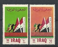 Iraq 1970  7th Anniv Of Ramadan Revolution, Set Of 2 - Mi. 587-88  MH, Avec Charniere, Ungebraucht - Irak