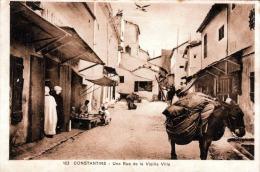 CONSTANTINE (Algerien) - Une Rue De La Vieille Ville, Gel.1929 - Konstantinopel