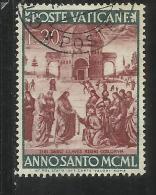 VATICANO VATICAN VATIKAN  1949 ANNO SANTO 1950 HOLY YEAR LIRE 20 USATO USED - Vaticano