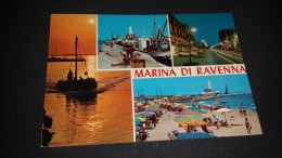 C-5638 CARTOLINA MARINA DI RAVENNA - VARIE VEDUTE - PORTO BARCHE SPIAGGIA FARO - Ravenna