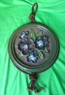 Vintage Germany Pottery W.Germany Large Wall Plaque 6123-25 W. Flowers - Ceramics & Pottery