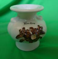 Vintage Sweden Keramik Design Rosa Ljung Candle Holder Candlestick Craquelure - Unclassified