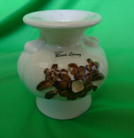 Vintage Scandinavian Pottery Sweden Keramik Design Rosa Ljung Candle Holder Candlestick Craquelure - Non Classificati