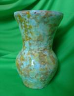 Vintage Scandinavian Pottery Sweden Ceramic Pottery VASE Craquelure Signed GZ - Ceramics & Pottery