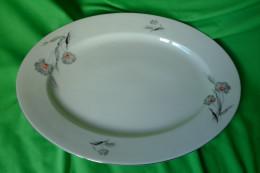 Old Antique Altrohlau Porcelain Factory 1918 - 1939 MZ Czechoslovakia Large Oval Serving Plate - Signed