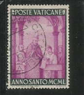 VATICANO VATICAN VATIKAN  1949 ANNO SANTO 1950 HOLY YEAR LIRE 30 USATO USED - Vaticano
