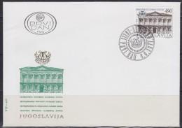 Yugoslavia, 1977, 150th Anniversary Of Croatian Music Institute, FDC - FDC