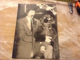 Rare Photo originale de press ( le progr�s ) Michel dejeneffe et tatayet le ventriloque