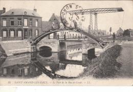 Cpa/pk 1913 Saint-Amand-Les-Eaux Le Pont De La Rue Condé - France