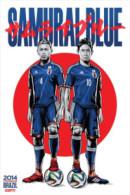 STICKER SIZE.6,5X9,5 CM. APROX - WORLD CUP FOOTBALL BRASIL 2014 - JAPAN - Otros