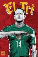 STICKER SIZE.6,5X9,5 CM. APROX - WORLD CUP FOOTBALL BRASIL 2014 - MEXICO - Stickers