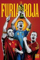 STICKER SIZE.6,5X9,5 CM. APROX - WORLD CUP FOOTBALL BRASIL 2014 - SPAIN - Stickers