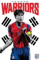 STICKER SIZE.6,5X9,5 CM. APROX - WORLD CUP FOOTBALL BRASIL 2014 - SOUTH KOREA - Stickers