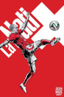 STICKER SIZE.6,5X9,5 CM. APROX - WORLD CUP FOOTBALL BRASIL 2014 - SWITZERLAND - Stickers