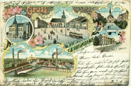 Würselen - Bahnhof - Krankenhaus - Sodafabrik - Litho - 1900 - Wuerselen