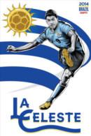 STICKER SIZE.6,5X9,5 CM. APROX - WORLD CUP FOOTBALL BRASIL 2014 - URUGUAY - Stickers