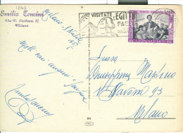 VISITATE L'EGITTO, PAESE DEL SOLE, TIMBRO POSTE MILANO SU CARTOLINA  VIAGGIATA 1957,  MILANO - Other