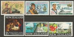 NZ  1968-9   Sc#409-11, 414-16    6 Diff   MH*  2016 Scott Value $4.15 - New Zealand