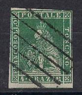 ANTICHI STATI ITALIANI   1851-52   TOSCANA   LEONE MEDICEO   SASS. 6   USATO   VF - Toscana