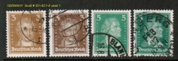 GERMANY    Scott  # 351-62 F-VF USED - Used Stamps