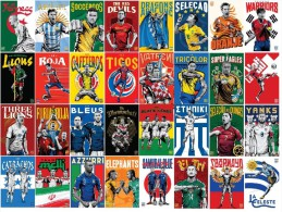 CALENDARS WORLD CUP BRASIL 2014 COLLECTION - 32 COUNTRIES (1000 SETS) - YEAR 2014 - Tamaño Pequeño : 2001-...