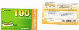 SIRIA  (SYRIA)  - SYRIAN TELECOM  (GSM RECHARGE) -  AYA 100     -  USED  -  RIF. 857 - Syria