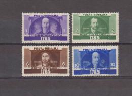1935  150 ANNIV. DE LA REVOLTE EN TRANSYLVANIE  Mi No480/483 Et  YV= 477/480  MH - Nuovi