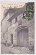 (RECTO / VERSO) COGNAC EN 1918 - MAISON DE LA NOURRICE DE FRANCOIS 1er AVEC PERSONNAGE - Cognac