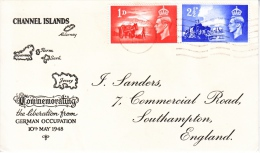 LIBERATED  CHANNEL  ISLANDS    FDC  COVER - 1902-1951 (Kings)