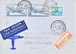BELGIUM  REGISTERED  COVER  FIRST  FLIGHT  SABENA  CIPEX  EXPO. 1947 - Airmail