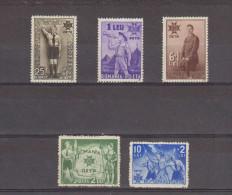 1935 - 5 Anniv De L Avenement De Charles II  Mi 484/488 Et Yv 481/485 (75 Euro/Michel) MH / MNH - 1918-1948 Ferdinand, Carol II. & Mihai I.