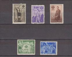 1935 - 5 Anniv De L Avenement De Charles II  Mi 484/488 Et Yv 481/485 (75 Euro/Michel) MH - 1918-1948 Ferdinand, Carol II. & Mihai I.