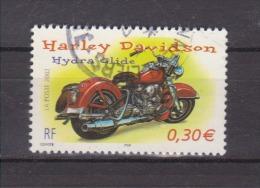 FRANCE / 2002 / Y&T N° 3514 : Moto (Harley Davidson Hydra Glide) - Choisi - Cachet Rond - France