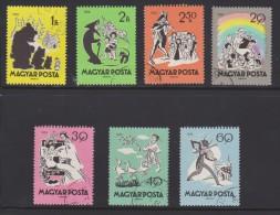 Hungary Mi 1642-1648 - Fairy Tales - Sleeping Beauty - Matt, The Goose Boy - The Cricket And The Ant - 1959 - Hongarije
