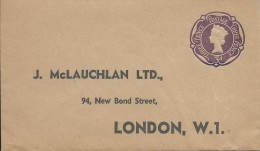 1950's/60's 3d Purple QE 11 Small Envelope Addressed But Unused   Front & Back Shown - Stamped Stationery, Airletters & Aerogrammes