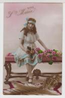 ENFANT-CHILDREN- KINDER - LITTLE GIRL - FILLETTE Avec Fleurs Et Peau De Tigre Au Sol - Vive Sainte Marie - Portraits