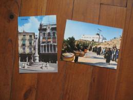 Deux Cartes D'Espagne     Teruel               Place Du Torico       Semaine Sainte  Calvaire - Teruel